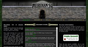 Meridian 59 website screenshoot