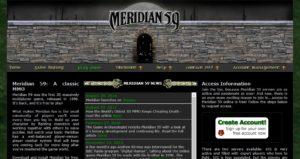Meridian 59 website screenshoot