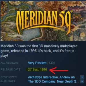 screentshop of merdian 59 release date on steam