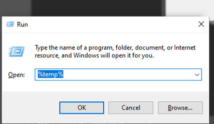 delete temporary files