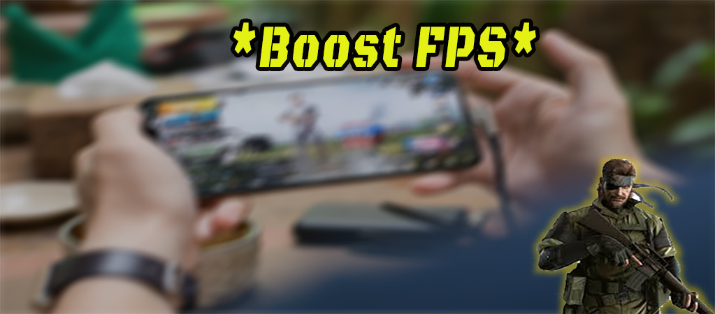 mobile with game and boos fps text on it