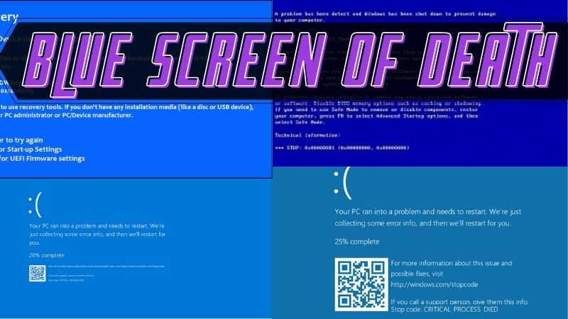 blue screen of death example images