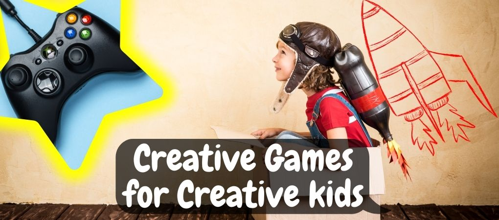 creative kids thinking about playing creative game